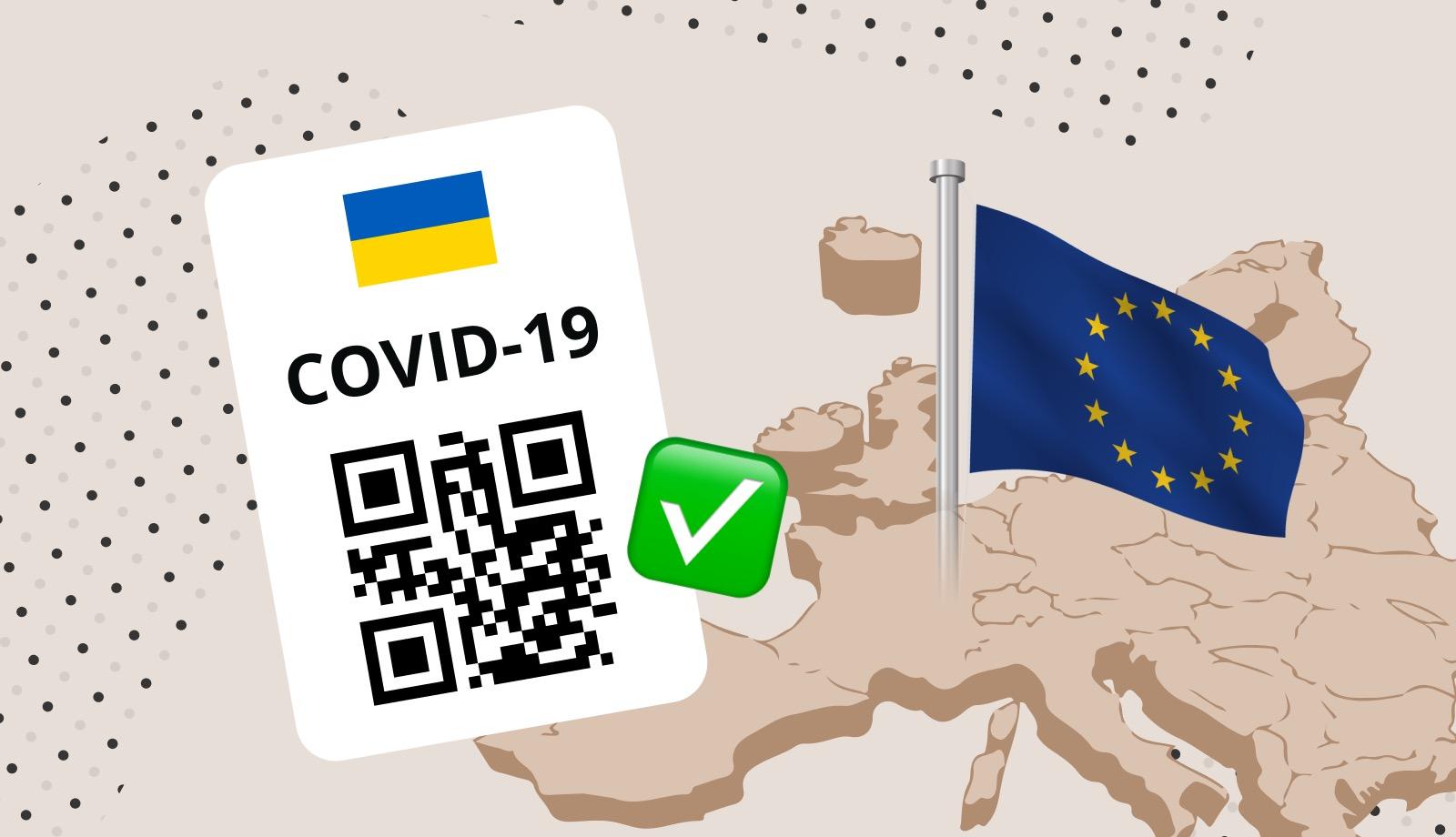 Українські COVID-сертифікати визнано Європейським союзом
